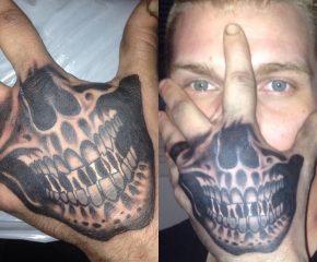 skull on hand june 20